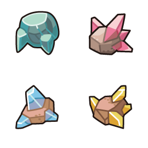 Four different weather stones