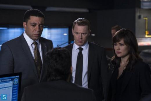 The Blacklist main cast (Harry Lennix, Diego Klattenhoff, Megan Boone)