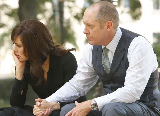 Elizabeth (Boone) and Reddington (Spader)