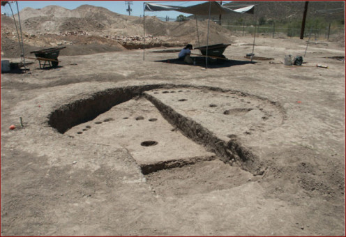 Evidence for human occupation of the Tucson Basin in the first millennium B.C. http://www.archaeologysouthwest.org/what-we-do/information/exhibits/clearwater/clearwater-photo-gallery/photo-gallery-clearwater-site-5/