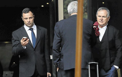 Oscar Pistorius and Barry Roux day 14 at the trial
