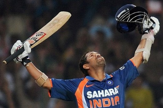 Sachin Tendulkar scores a record breaking double century.