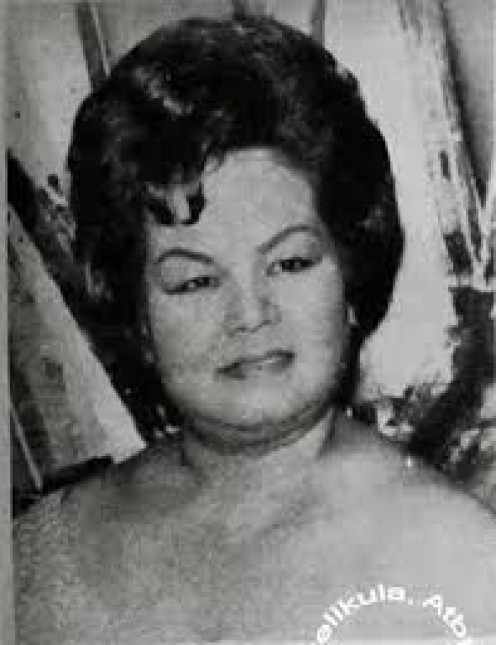 """Adelaida Marquez Fernando-Villegas, popularly known as """"Dely Atay-Atayan"""". she was known as a singer and Philippines' mother of all comediennes."""