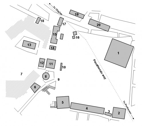 Layout of the Agora at Athens