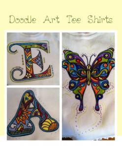 Paint Doodle Art Tee Shirts
