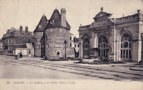 Pre-World War One view of Les Tourelles and former municipal theatre