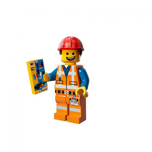 Emmet, a construction worker, is the hero of the new Lego Movie and is also one of the collectible figures in the Lego Movie Series