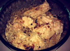 Cooking: Almond Crusted Chicken With Garlic Lime Sauce & Brown Rice (Gluten Free)