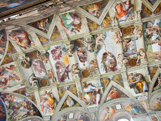 Plafond de la Chapelle Sixtine. Vatican.