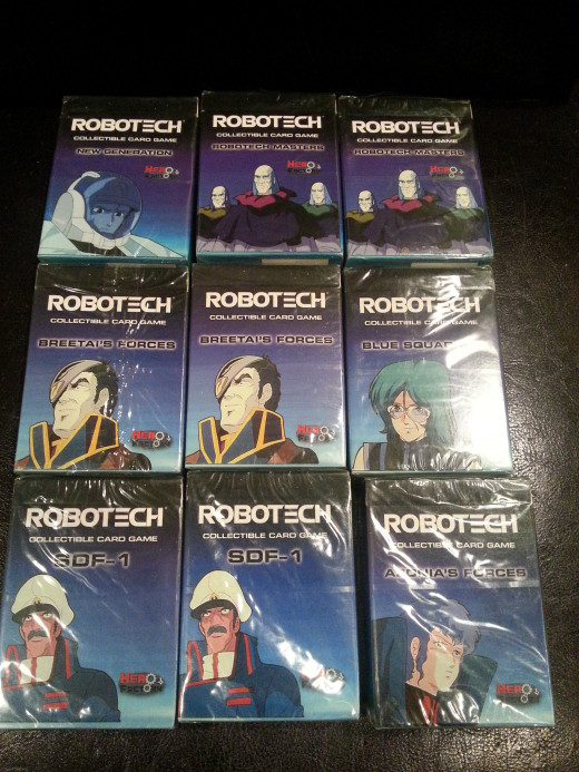 Robotech Cards - bought with a bunch of other cards for $5, sold these alone for $15