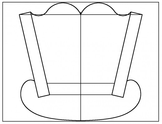 CAD drawing of the Cradle's end shape.