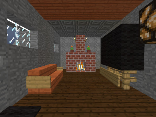 Decorate Your Living Room  Building a fireplace  television and couch makes  a living room feel more complete. How to Decorate Your House in Minecraft   LevelSkip