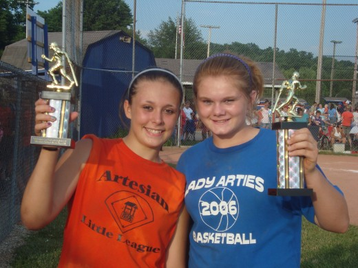 Best Friends opposite teams 1st and 2nd place. My daughter and her BFF