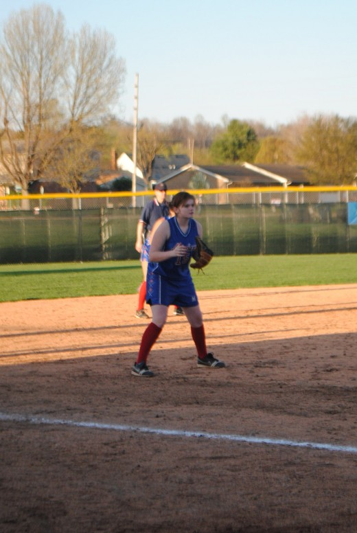 3rd base, My daughter Jandi, she also played catcher, short stop, pitcher and left field.