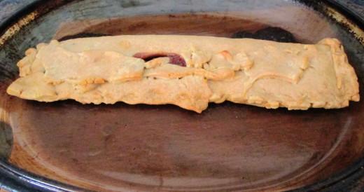 Cooked Strawberry Jam Tart