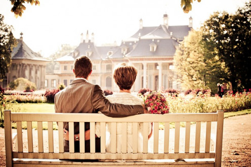Couple Bride Love Wedding Bench Rest/Bergadder