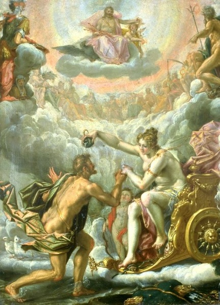 Venus Anoints Aeneas Making Him a God