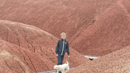 Beautiful red hills at the Painted Hills in Oregon