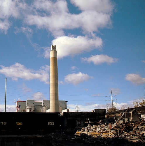 An old and monolithic incinerator in Detroit, Michigan.  A video surrounding the controversy of this plant can be seen below.  Photo courtesy of Flickr.