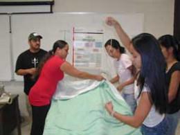 Nursing students work on their skills at Kauaʻi Community College.
