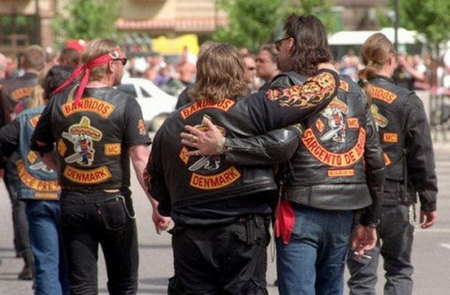 A rough biker gang