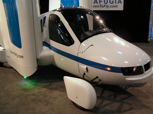 Production Prototype of the Terrafugia Transition drivable airplane on display at the New York International Auto Show 2012. by Anthony22