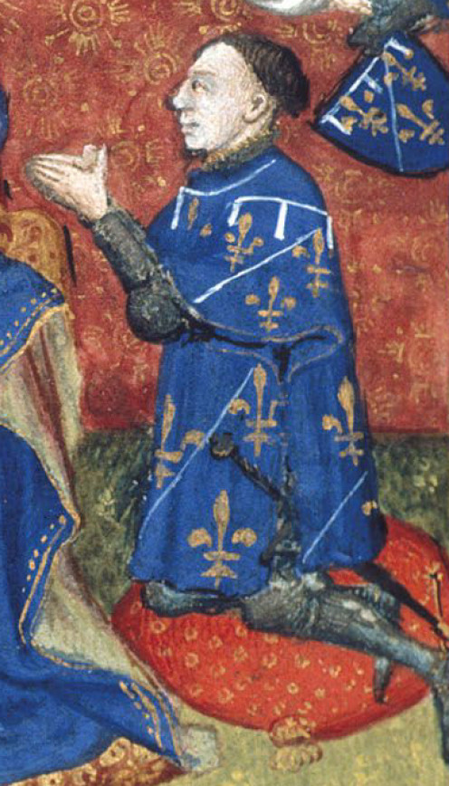 Jean d'Orléans, Count of Dunois, detail of a medieval miniature
