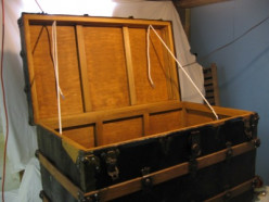 Restoring an Antique Trunk and For Young Women a Lesson in Man-Speak
