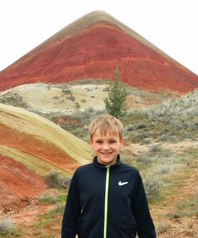 The Red Hill - approximately 2.5 miles from the Overlook Trail at the Painted Hills