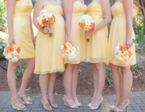 If you're not a fan of bright yellow, you could opt for a paler shade. Let the splash of color come from vivid orange flowers.