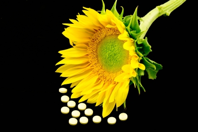 Vitamin D comes from sunshine or supplementation.