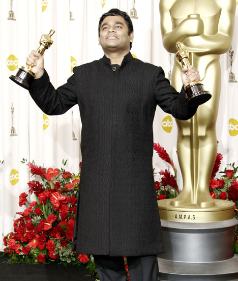 Delighted after winning Oscars