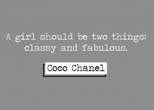 Coco Chanel dressed many bombshells, even if only in perfume.  Her words of wisdom are some of the greatest for all women, but I find the words ring even more true for Bombshells.