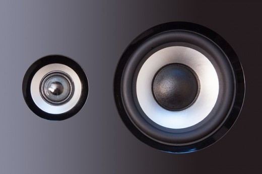 The best speakers will give you fidelity over the entire frequency range: deep and non-distorting bass, accompanied by mid and treble that is crisp, clear, and accurate.  For the best audio quality you should buy speakers with high handling capacity.