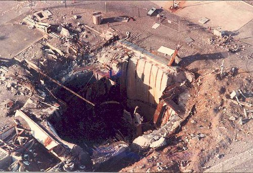 "This areal photo shows a large hole in Damascus, allegedly due to an ""accident"", but could it be the result of a nuke bunker buster? Seizmic profiles are not available for Amchitka, Ammon, or Damascus on the dates specitied."