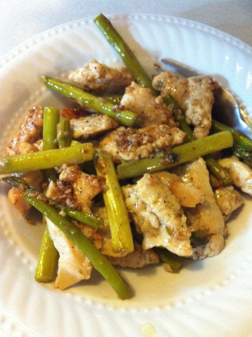 Garlic Chicken & Asparagus