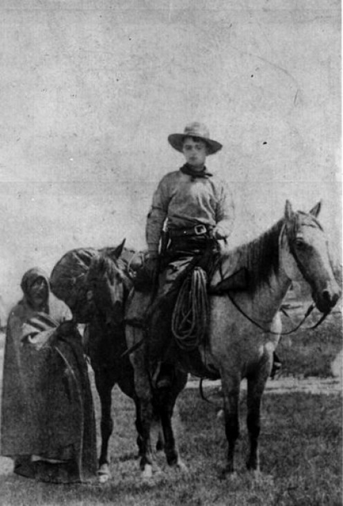 Frank E. Webner, Pony Express rider, taken in 1861.