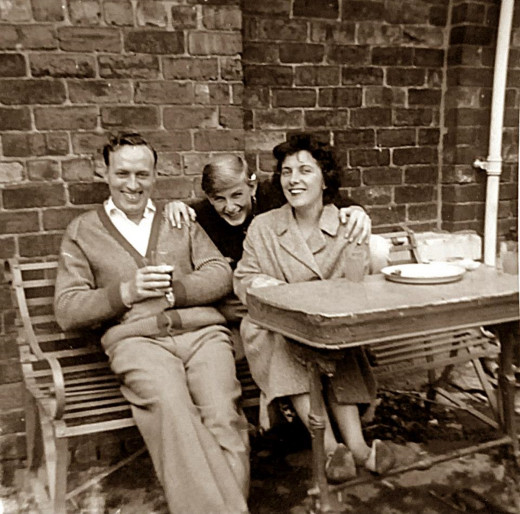 Dad in the 1960s (pictured with mum and my big brother Eric) was an absolute whizz at anything practical and made lots of furniture for our house in his younger days.