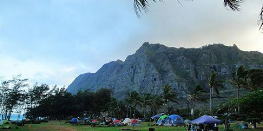 Waimanalo's Bellows Field Beach Park is a popular getaway for locals and visitors alike.