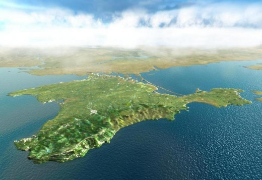 The coastlines and the inland of Crimea are inhospitable and beautiful. Most people live in the cities Simferopol and Sevastopol.