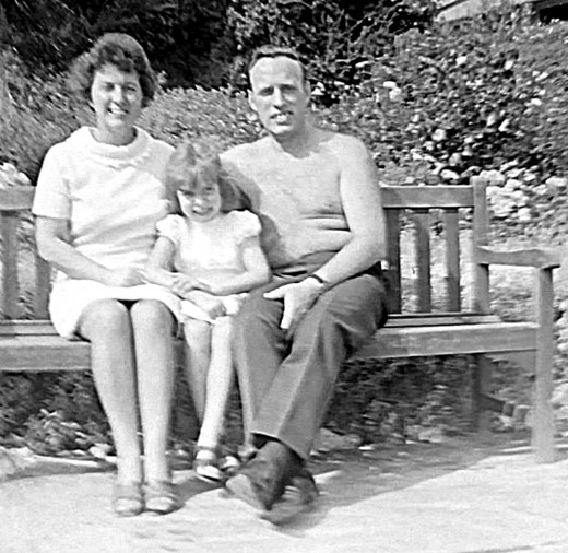 Me, mum and dad on our annual family holiday at Butlins, Pwllheli.