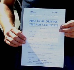 I passed the driving test