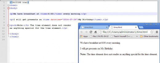 There is no special formatting of code tagged with the  element.