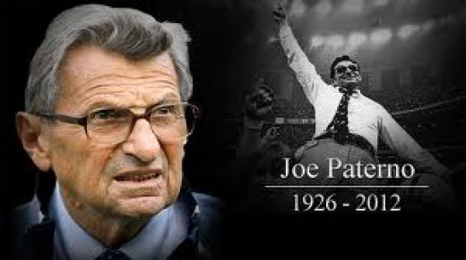 Joe Paterno, legendary Coach of the Pennsylvania State University Nittany Lions.