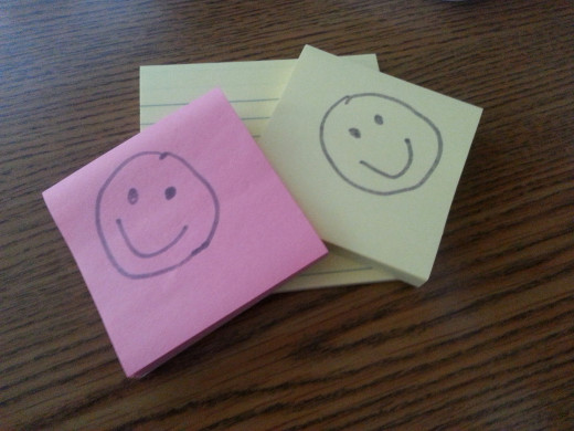 I love Post-It notes and they love me.