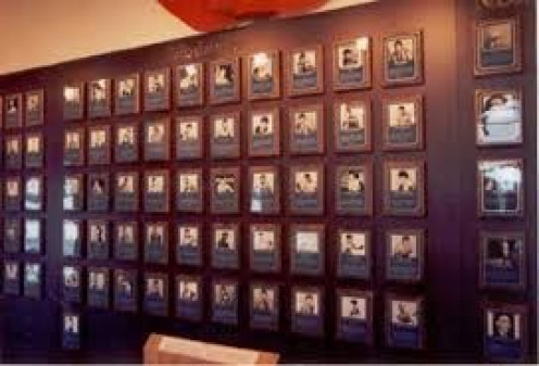 Plaques of All Time Great Prizefighters adorn the Walls of the Hall of Fame. Every June the Hall of Fame host an induction ceremony for boxers to be immortalized.