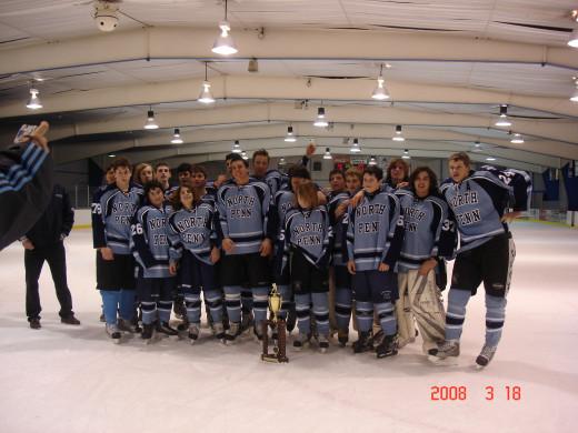 high school ice hockey championships - Knights