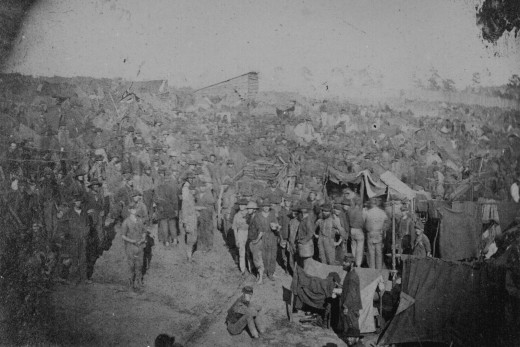 Union prisoners in Andersonville