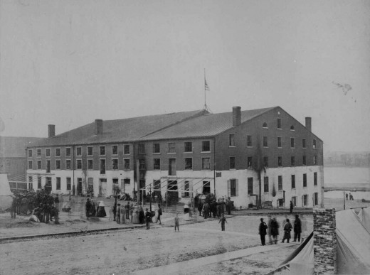 Libby Prison, a former food warehouse, in Richmond, VA