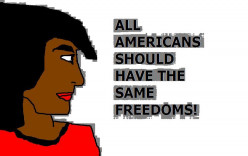 It came out of Star Trek the television show and also the novels that all Americans should have the same freedoms.